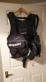 Megalift BCD diving vest compensator
