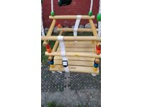 Swing attachment for children / babies. High quality wood, mint condition