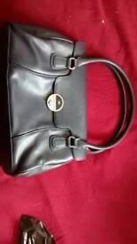 Handbag, navy, 35x25x10cm, Debenhams, used in good condition