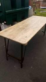 Vintage military folding table