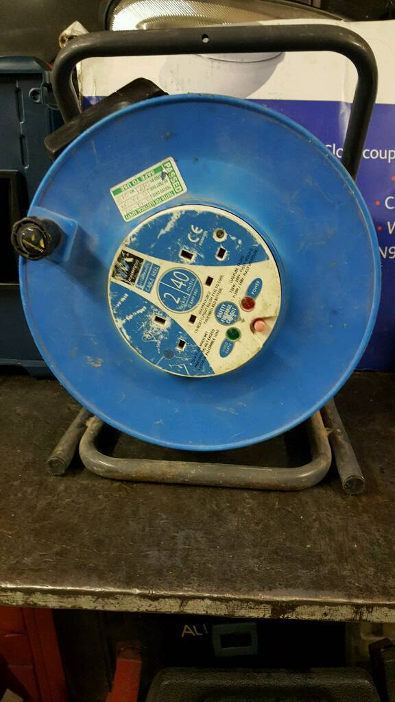 40m 230v RCD protected extension reel
