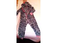Girls Animal print onesy age 6