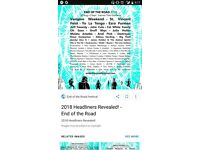 End of the Road ticket for sale - cheaper than on web!
