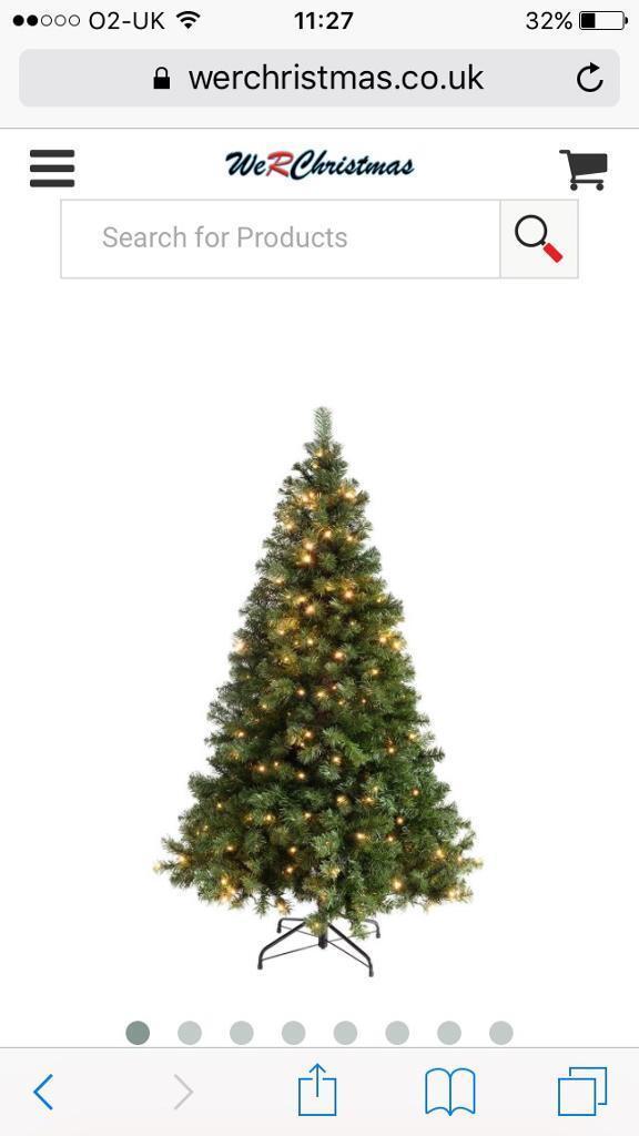 Christmas tree 6 foot pre lit unopened