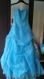 Blue sequin prom dress size 10/12