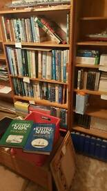 Large royal navy books collection