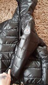 Kids moncler padded jacket new black