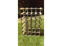 24 bottle wine rack - wood with metal & DELIVERY POSSIBLE