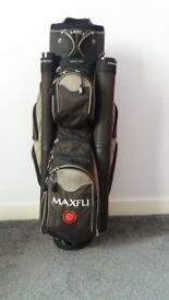 GOLF CART BAG - MAXFLI WITH RAIN COVER AND LIGHTWEIGHT