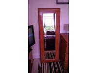 Dress Length Wood Mirror