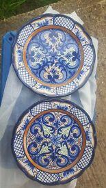 2 x Spanish Decorative Plates
