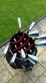 Wilson deep red left hand golf clubs