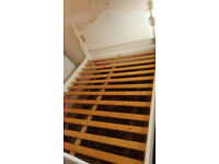 Pin wood kingsize bed frame in very good condition
