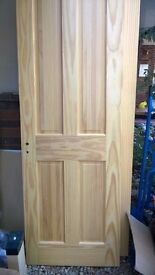 Interior doors, one glass panelled, job lot of four