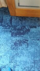 INTERFACE TOP QUALITY CONTRACT CARPET TILES.NEW EFFECT PACIFIC BLUE.45 SQUARE METERS. A GRADE.CHEAP.