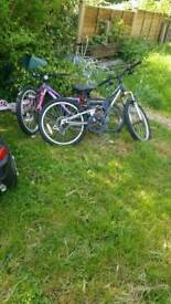 3 bicycle chans off one littl girl bick car