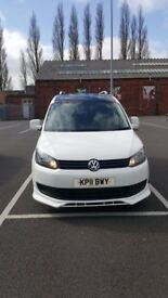 White VW Caddy Van