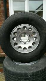 Ralli art Pajero wheels and tyres
