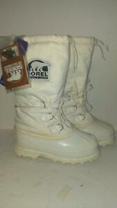 NEW SIZE 7 men's WHITE SOREL MENS GLACIER 3 LIGHT SNOW BOOTS -75 C  with wind chill