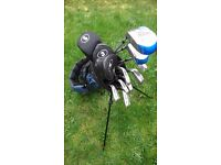 Golf clubs and trolley brand new