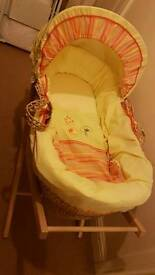 Moses basket & stand / mattress (**reduced price**)