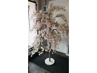 "Beautiful 5' 6"" Pink Artificial Blossom Tree"