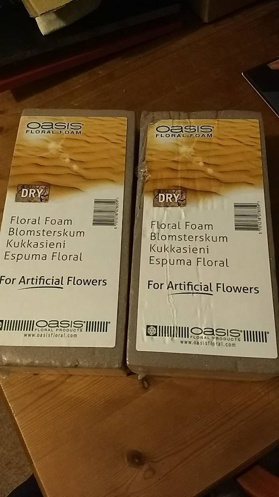 Free floral foam x2 - gone, subject to collection