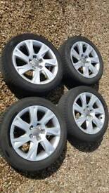 Audi A5 A4 alloy wheels with Hankook 225 50 17 tyres