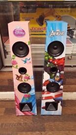 MARVEL AVENGERS AND DISNEY PRINCESS BLUETOOTH STAND SPEAKER BRAND NEW WITH RECEIPT
