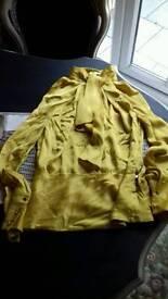 Karen Millen Gold Top Size 12.