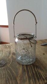 Crackled glass lantern