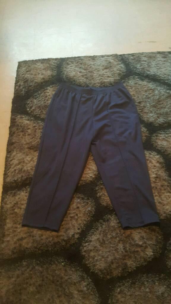 Womens blue pants size 22 comfy fit