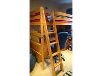 John Lewis pine loft bed