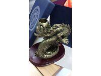 Bronze dragon candle stick