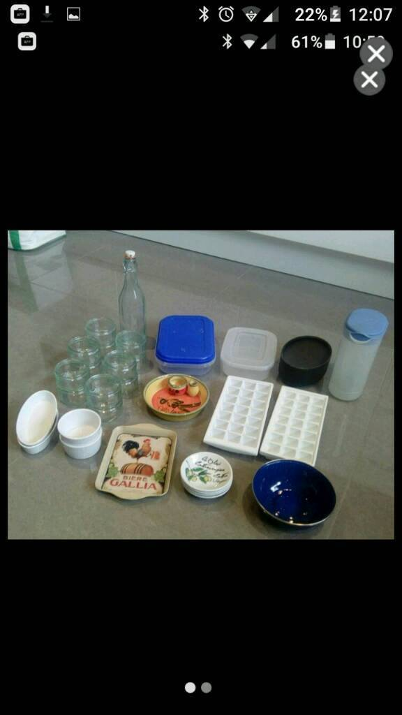 Storage containers, serving dishes