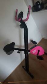 foldable exercise bike pink must go today bought for 120as new