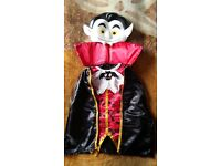 Dracula Vampire Ages 5 6 Boys Halloween Fancy Dress Childs Costume