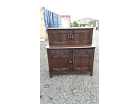 ERCOL Court Cupboard - solid wood, colonial style,