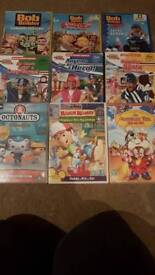 Bob the builder and lazy town DVDs