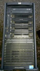 Job lot of 4 HP servers and workstation (sold individually)