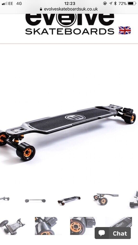 Evolve Electric Skateboard Carbon GT with street and all terrain wheels
