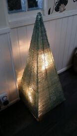 Handcrafted Large Glass Pyramid Lamp