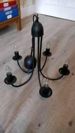 IKEA black chandelier
