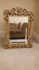 Antique Style Gold Mirror