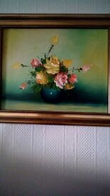 Old oil painting in nice frame
