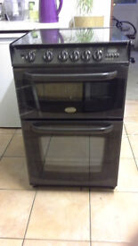 Cannon double oven gas cooker model 10540G mk2 55cm