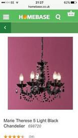 Black chandelier new with box