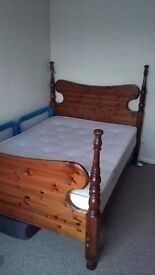 Double bed with matteres.