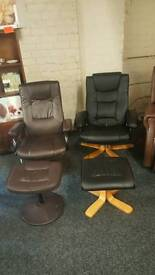 Recline massage and heat chairs.