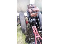 garden tractor villiers and ploughs good condition ready to go or export